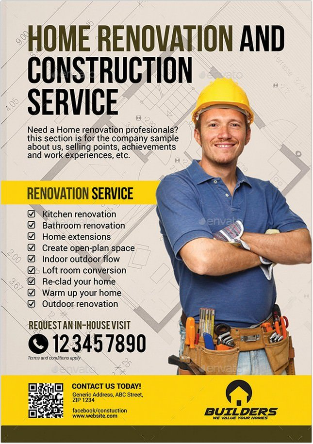 20  eye-catching contractor flyer templates  u0026 designs 2018