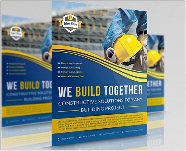 Construction Business Flyer Template Vol.2
