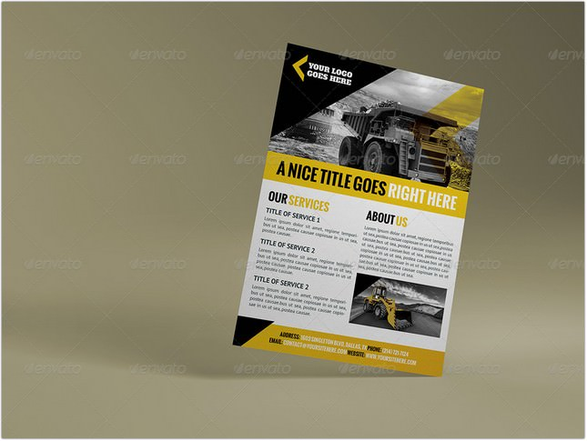 Construction Company A4 Letter Flyer