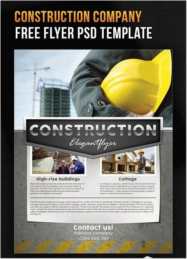 Construction company – Flyer PSD Template