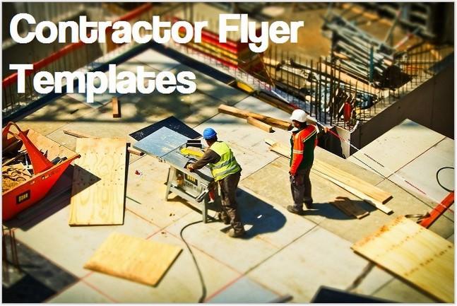 Contractor Flyer Templates
