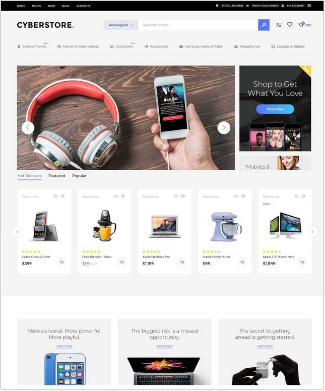 CyberStore - A Modern WooCommerce Theme for Electronics Retailers