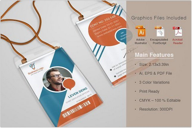 Dazzling Corporate Office ID Card