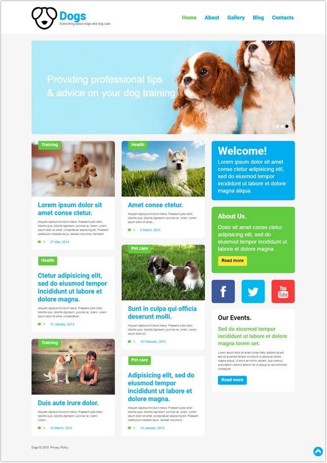 Dog Responsive PHP Theme