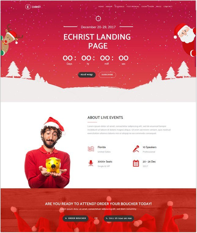 Echrist - Responsive Event Landing Page Template