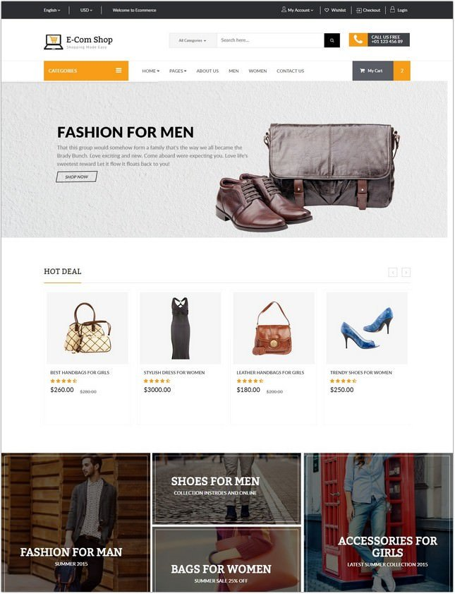 Ecom - Responsive eCommerce PHP Template