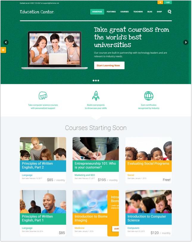 Education Center Training Courses Theme