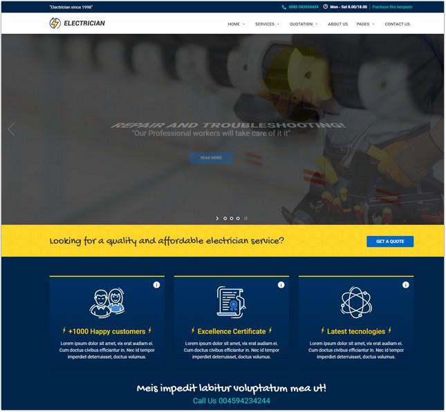 Electrician - Electrician & Repairing template