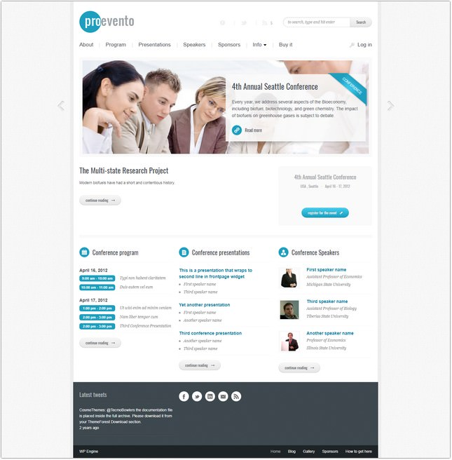 Evento - Event Management WordPress Theme