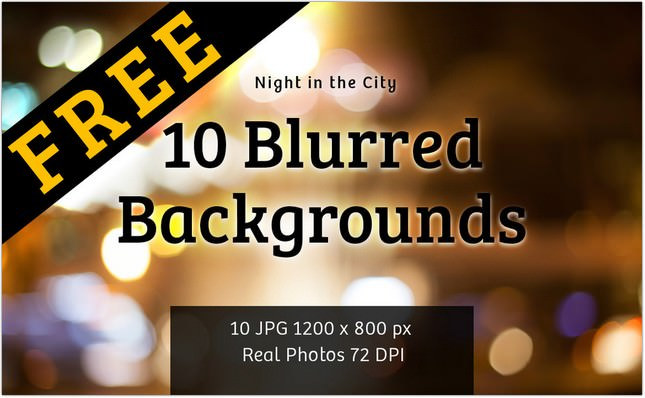 FREE Blured Background Night in the City