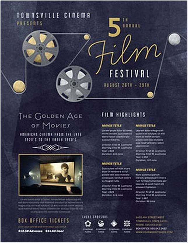 film festival flyer template - Film Festival Brochure Template