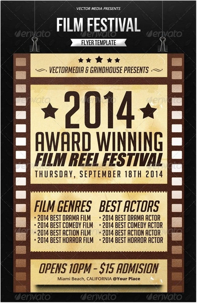 17 Best Film Festival Flyer Poster Templates And Designs Psd