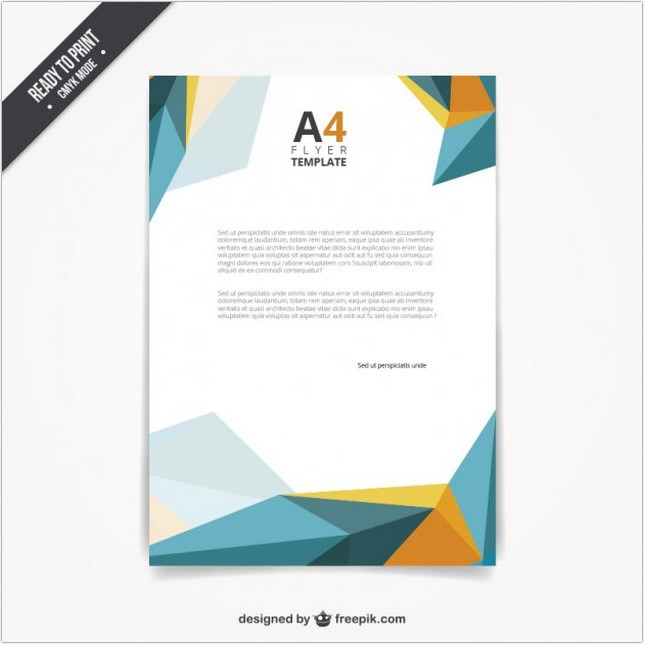 Flyer Template in Polygonal Style