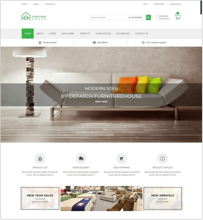 Furniture House - eCommerce Shop PHP Template