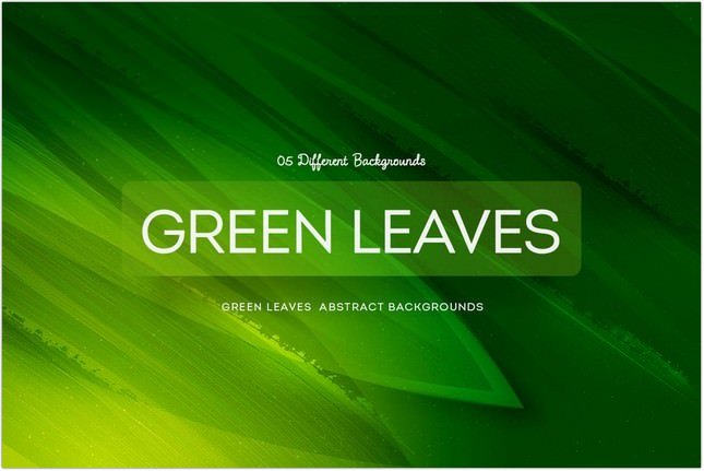 Green Leaves Abstract Backgrounds COL 1