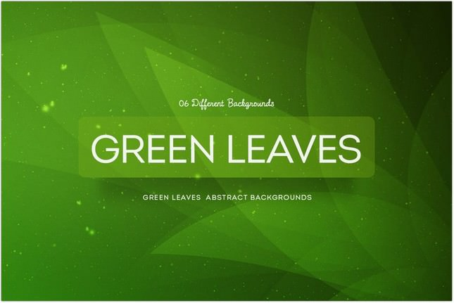 Green Leaves Abstract Backgrounds COL 4