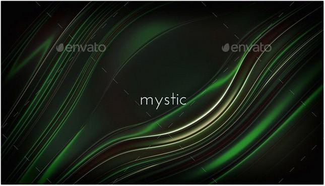 Green and Black Metallic Background