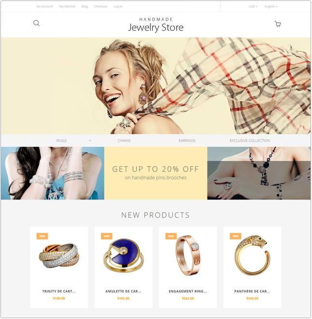 Handmade Jewelry Magento Theme