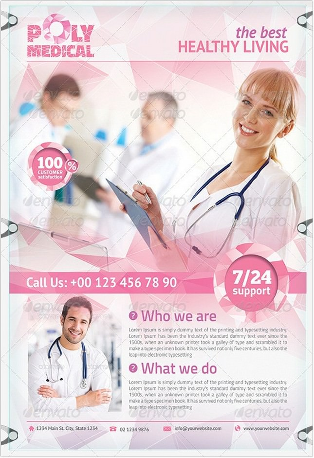 Health Flyer Template - Polygon Design