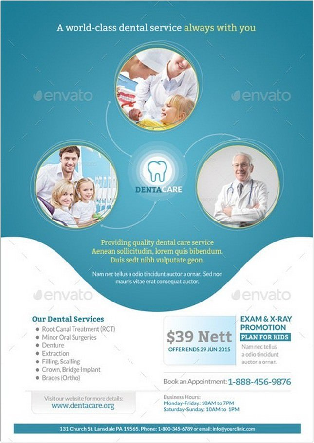 Healthcare, Medical, Dental Flyer Templates