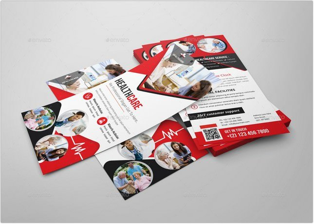 Healthcare Rack card DL Flyer Design Template