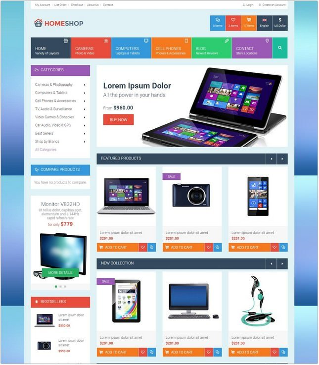 Home Shop - Retail PHP Template