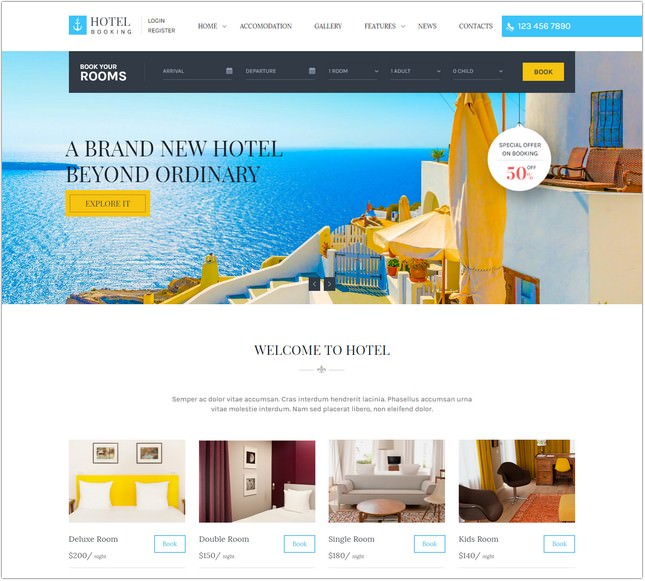 Hotel Booking - PHP Template for Hotels