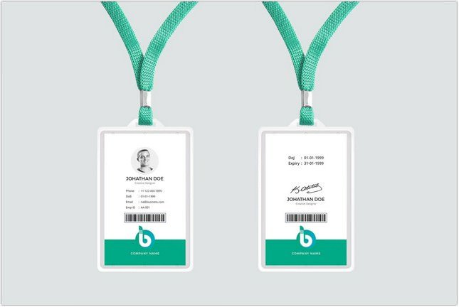 ID Card Vertical Template