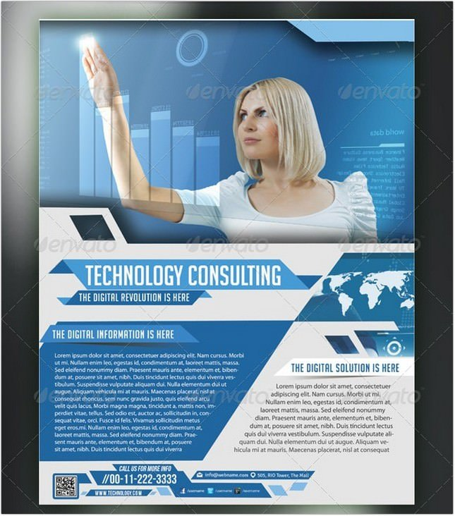 IT Services Consulting Flyer Poster Template
