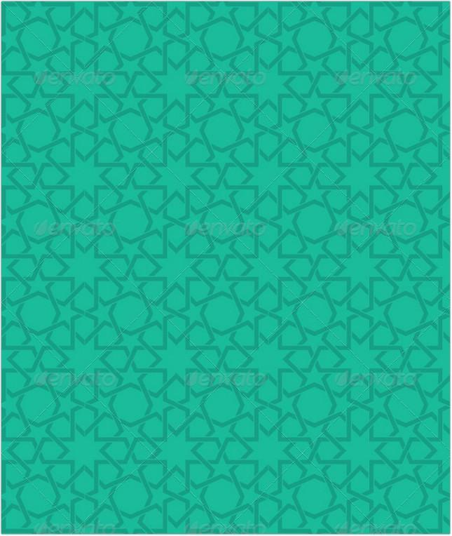 Islamic Green Star Pattern