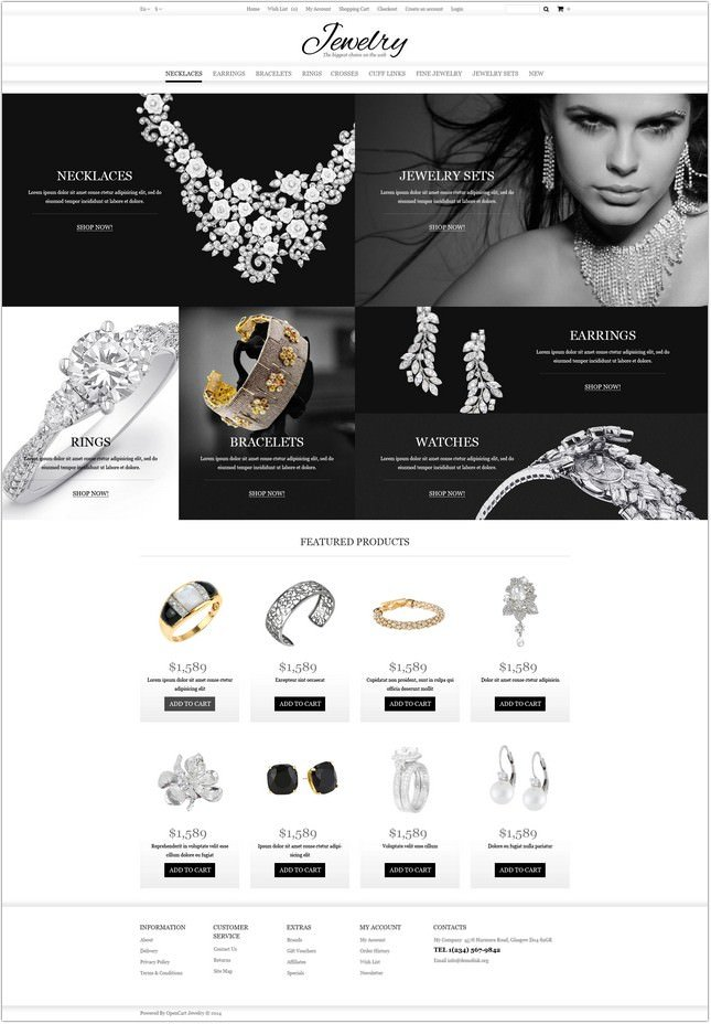 Jewelry Online Shop OpenCart Template