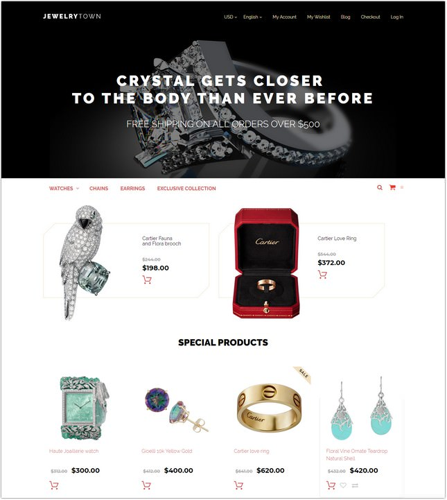 JewelryTown Magento Theme