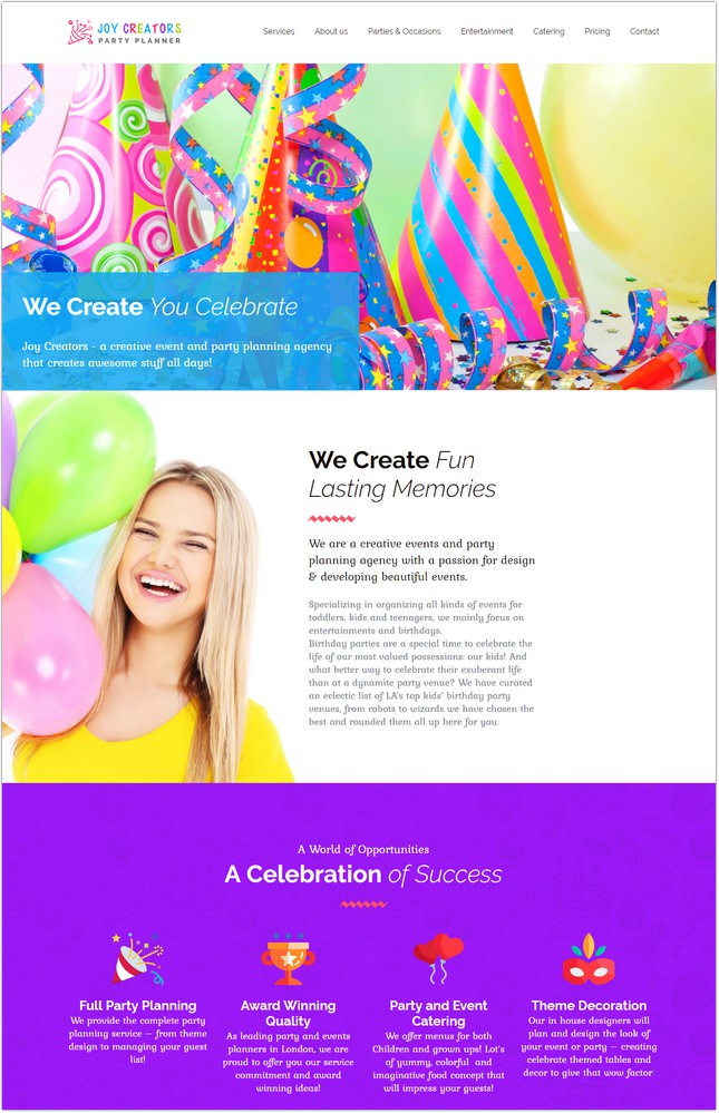 Joy Creators - Event Planner Template