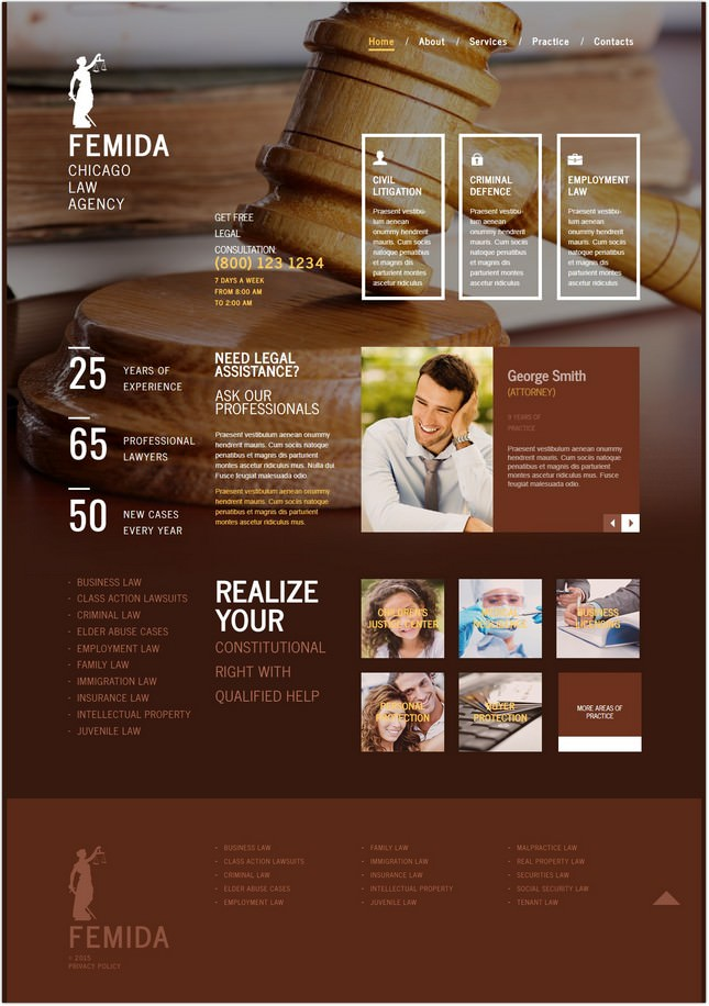 Law Firm Moto CMS PHP Template