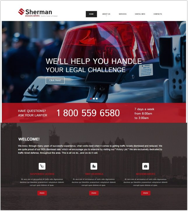Law Moto CMS HTML Template