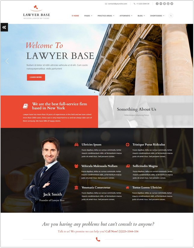 Lawyer Base - Lawyers Attorneys PHP Theme