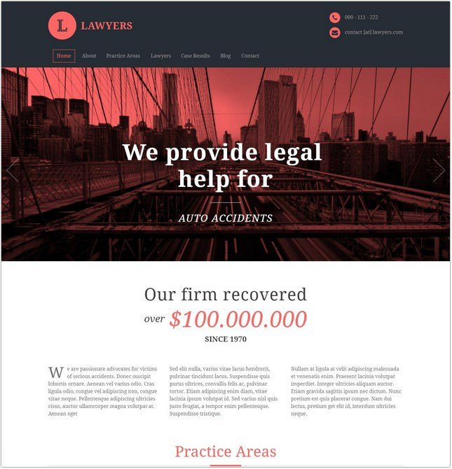 Lawyers - Responsive Business PHP Template