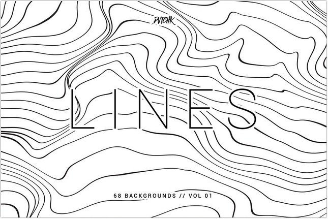 Lines Abstract Wavy Backgrounds Vol. 01
