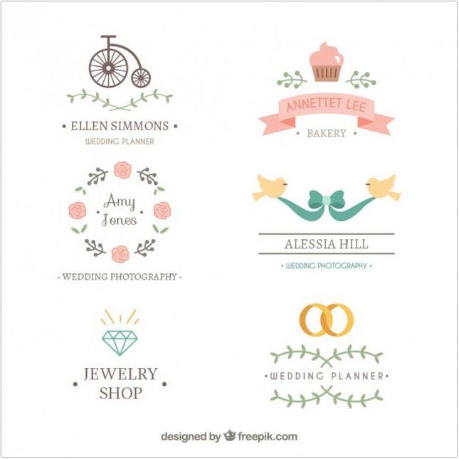 Lovely wedding logos