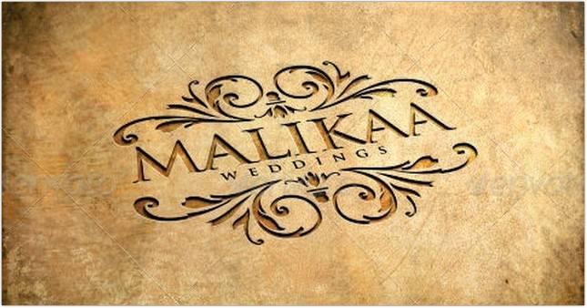 Malikaa Wedding Logo Template