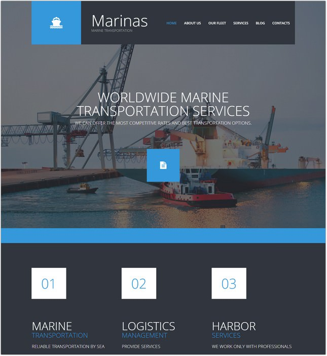 Maritime Responsive Template