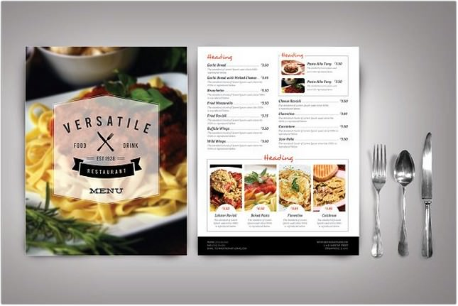 Modern Restaurant Menu (Versatile)