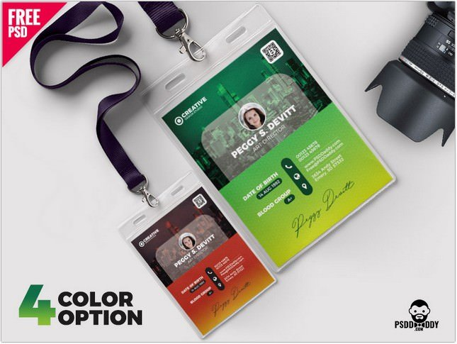 Office Photo Identity Card Design PSD Bundle