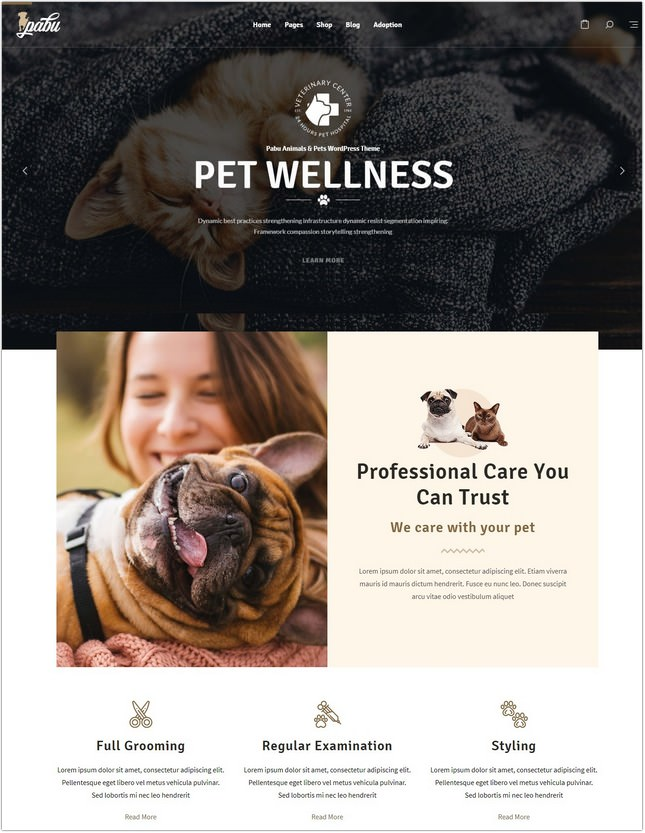 Pabu – Animals and Pets PHP Theme