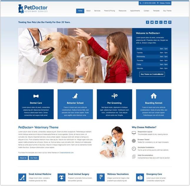 PetDoctor Veterinary PHP Theme