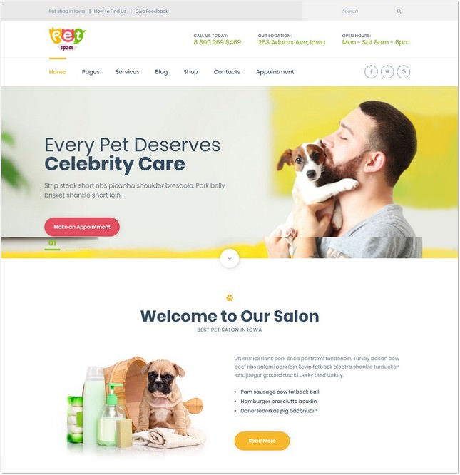 PetSpace - Animal Grooming PHP Theme