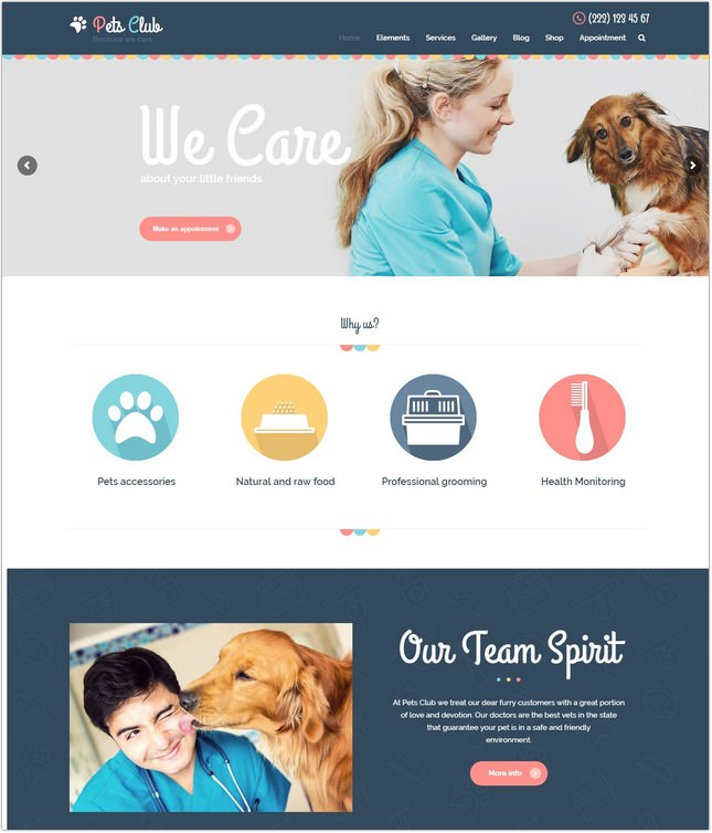 Pets Club - Pet Care, Shop & Veterinary PHP Theme