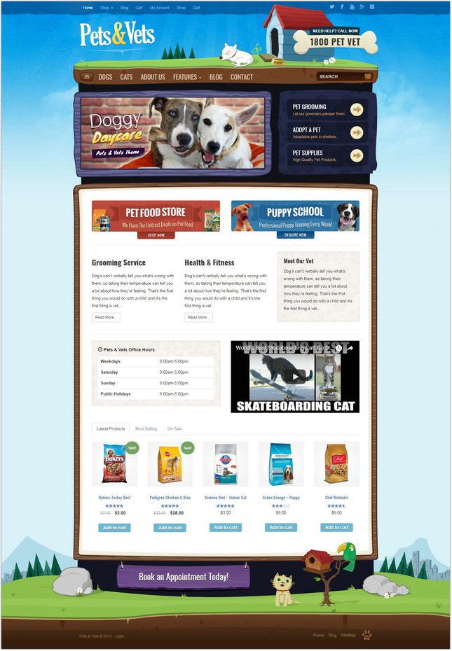 Pets & Vets - PHP & WooCommerce