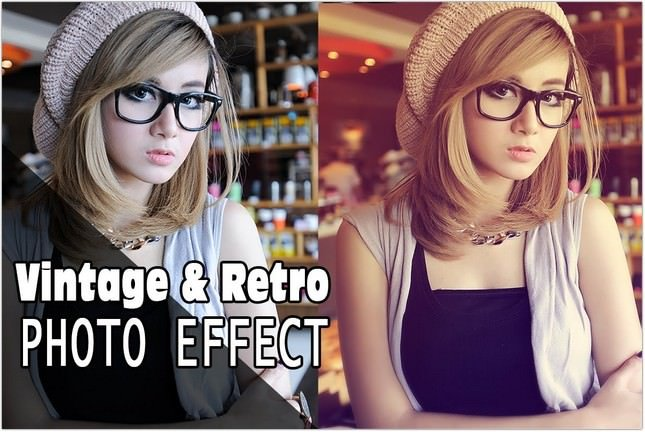 Photoshop Vintage & Retro Photo Effect