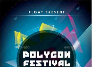 Polygon Festival Flyer Templates